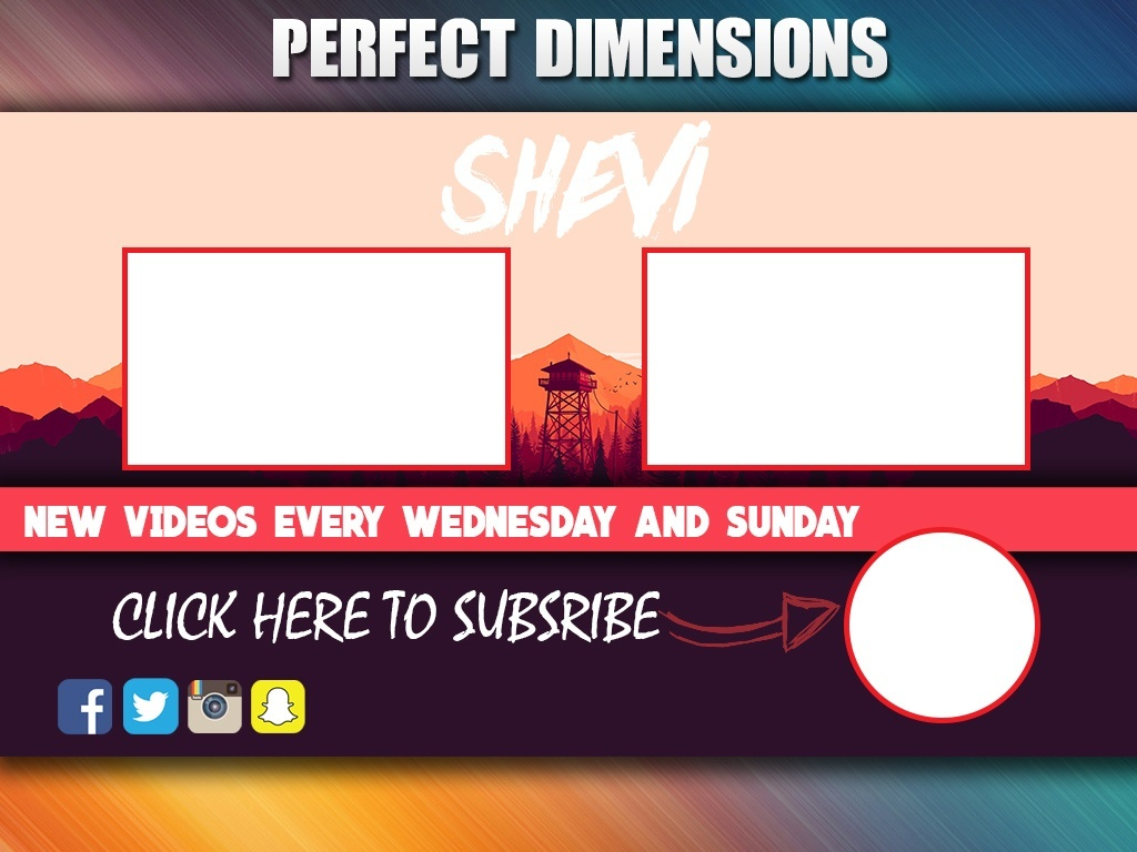 Youtube layout template psd theme : 2018