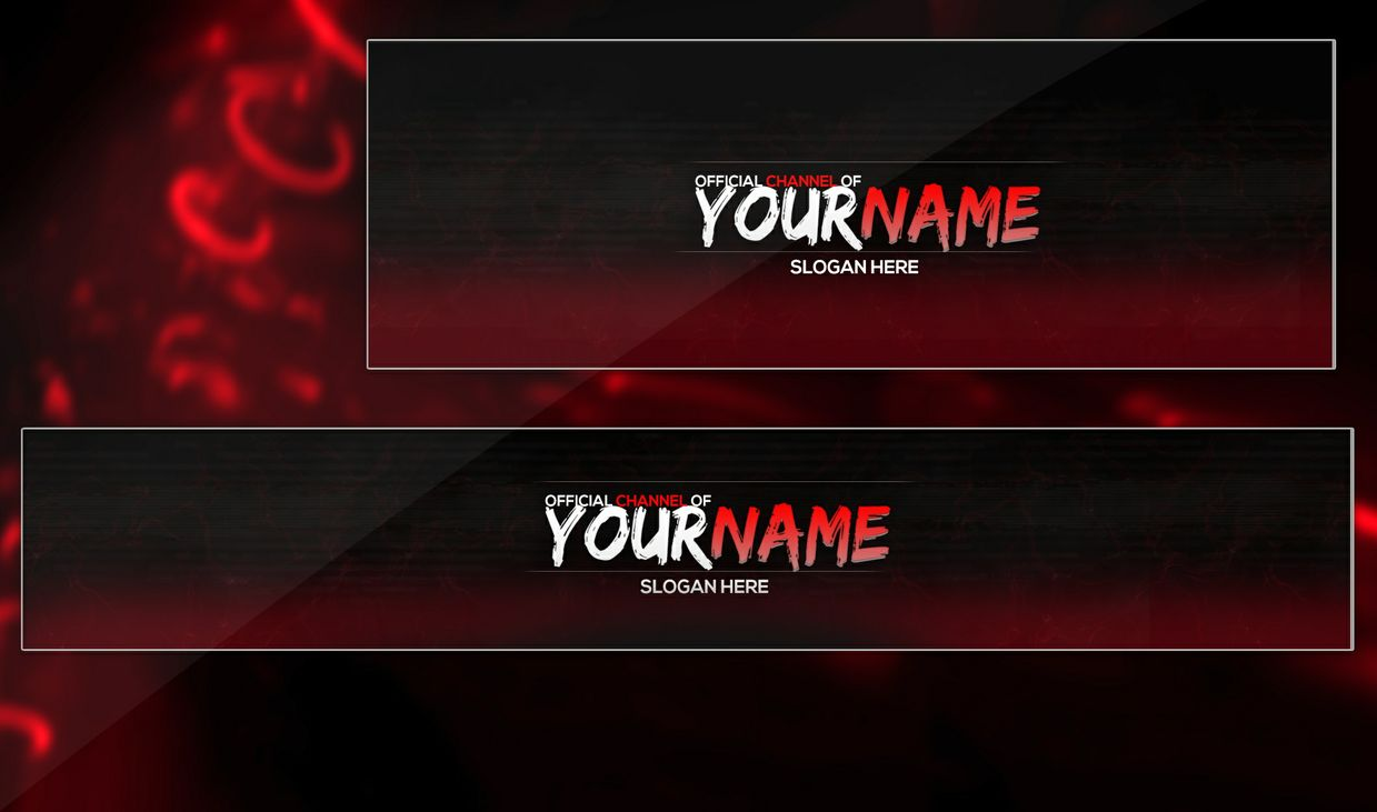 Youtube header template