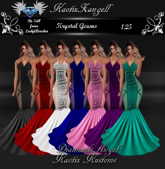 Krystal Gowns