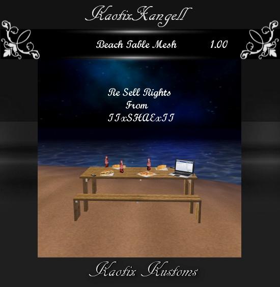 Beach Table Mesh