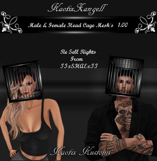 Male & Female Head Cage Mesh's