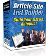Site Builder Pack (Article Site List Builder and Skiing Video Site Builder)