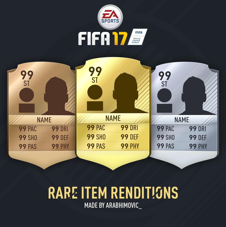 FIFA 17 Rare Item Renditions
