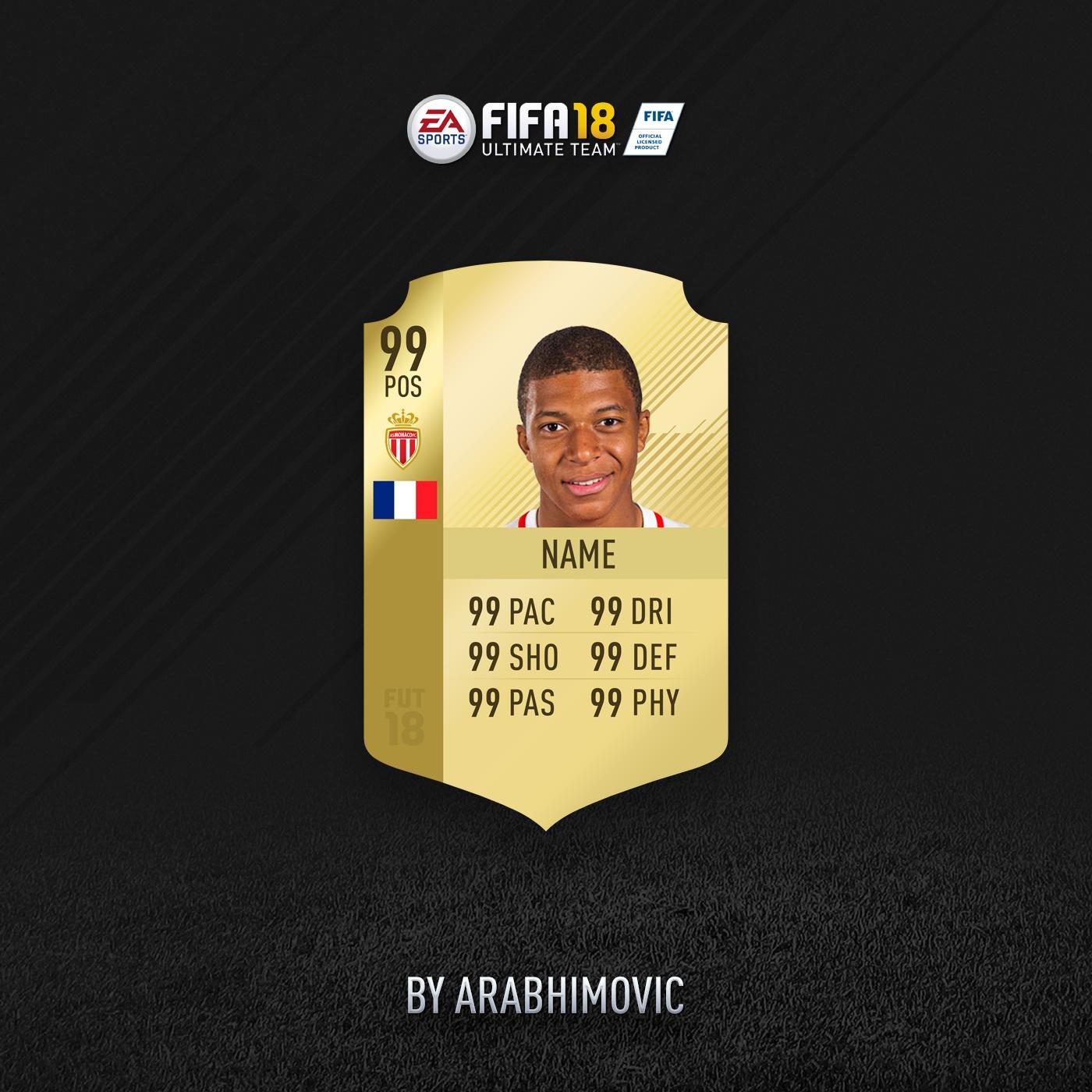 FIFA 18 HD RARE GOLD CARD