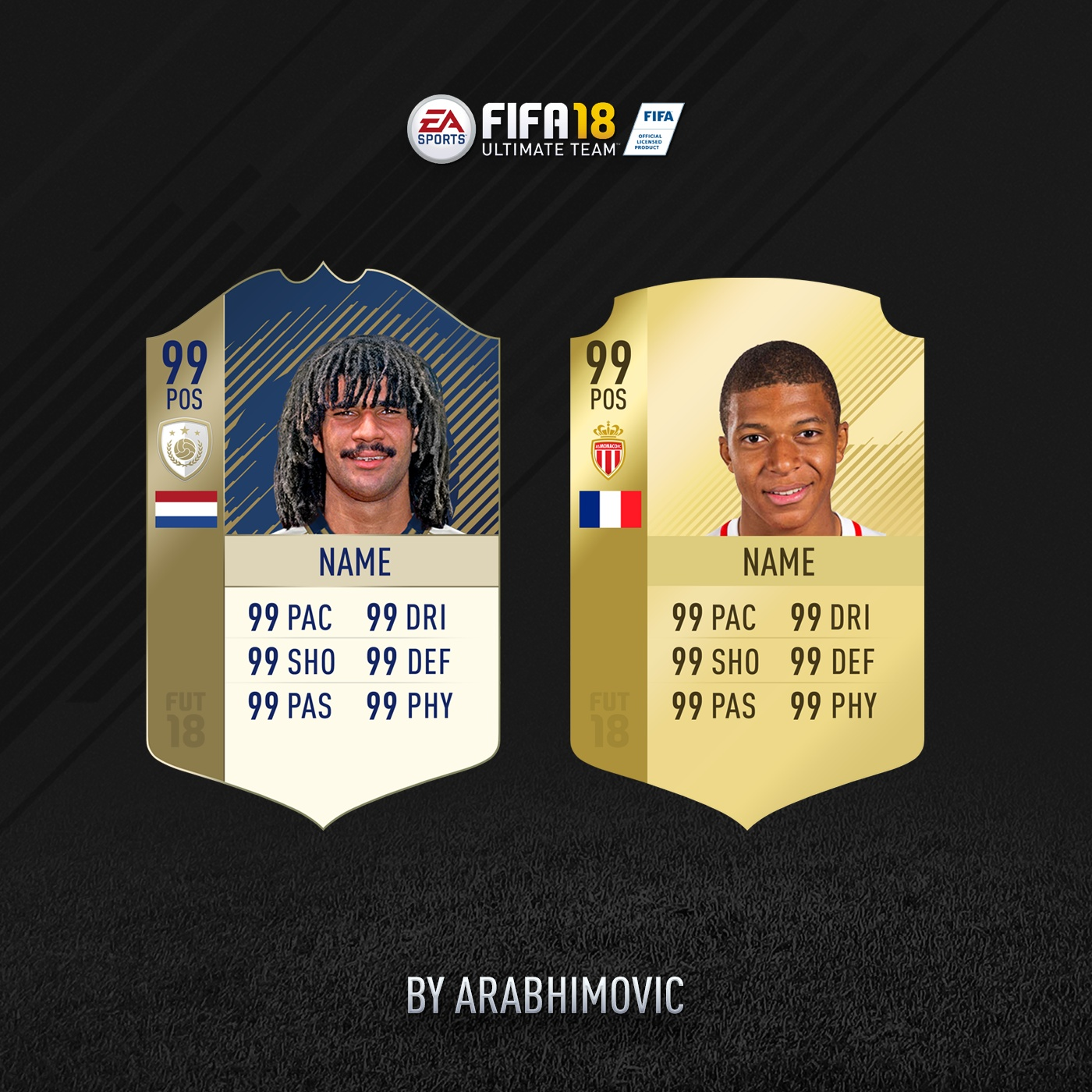 FIFA 18 HD ICON AND RARE GOLD CARDS