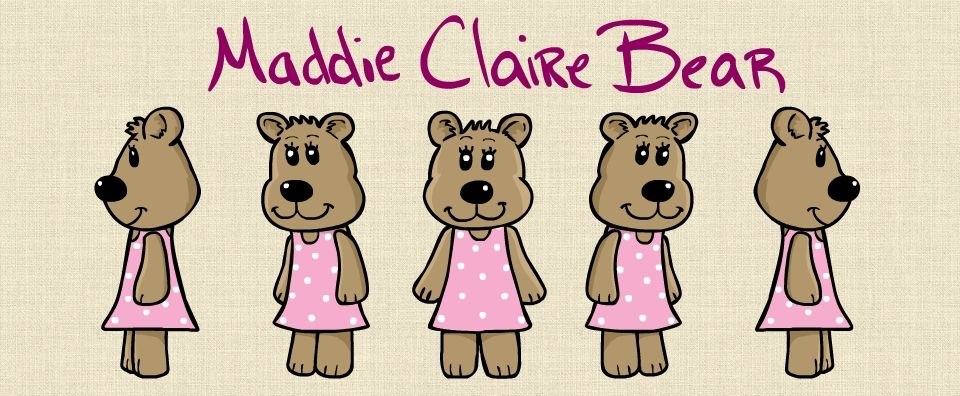 "11""x8.5"" PRINT - Maddie Bear Autographed Character Sheet"