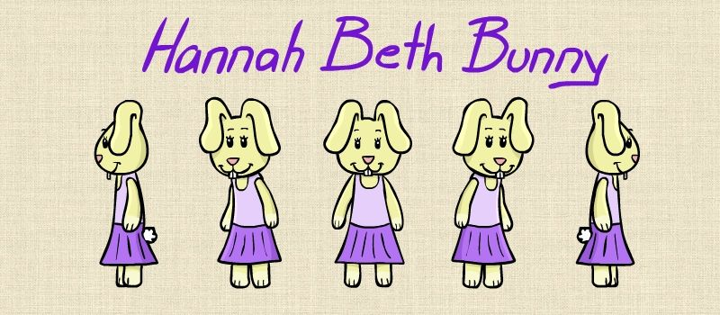 "11""x8.5"" PRINT - Hannah Beth Bunny Autographed Character Sheet"