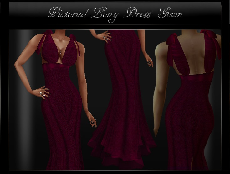 Victorian Long Dress Gown IMVU