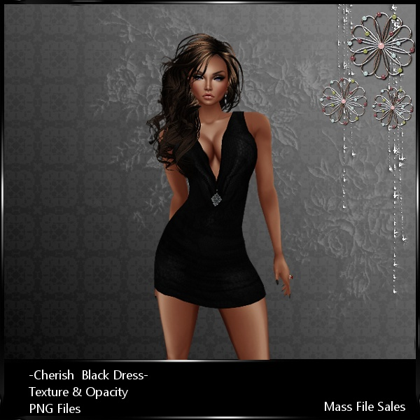 Imvu Clothing Cherish Black Dress