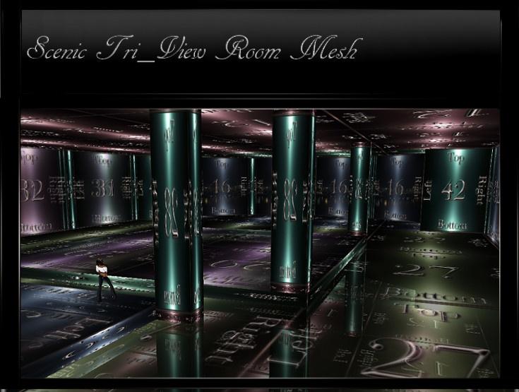 IMVU Mesh Scenic Tri-View Room Mesh
