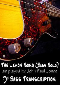 The Lemon Song (bass solo only) - Led Zeppelin (Bass: John Paul Jones)