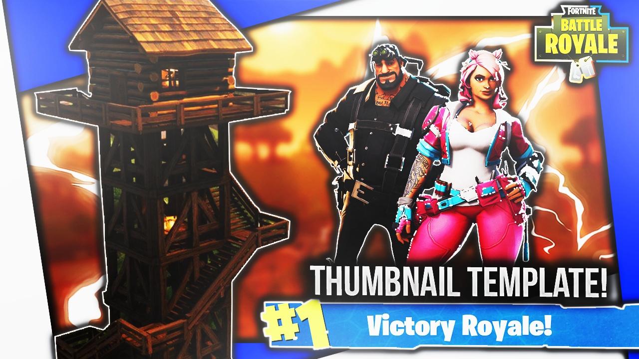 Fortnite Thumbnail Template #2