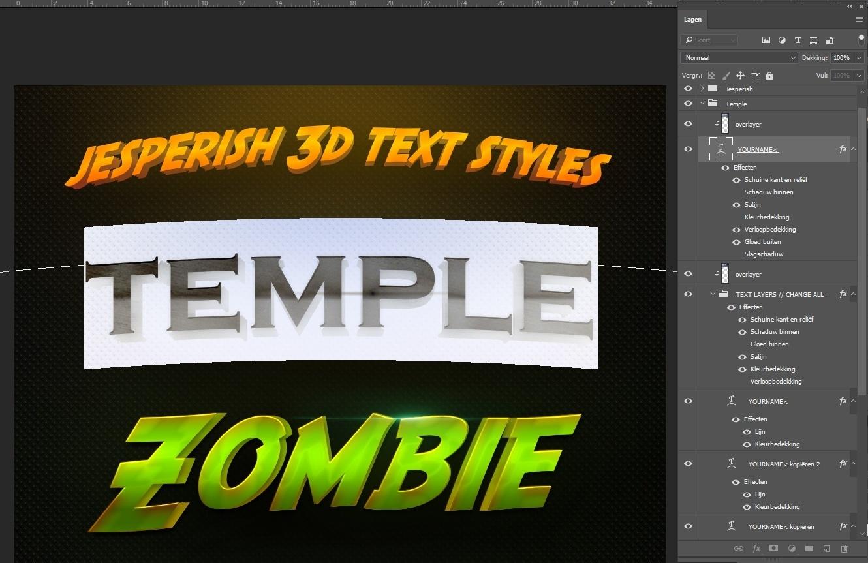 Jesperish 3D layerstyles