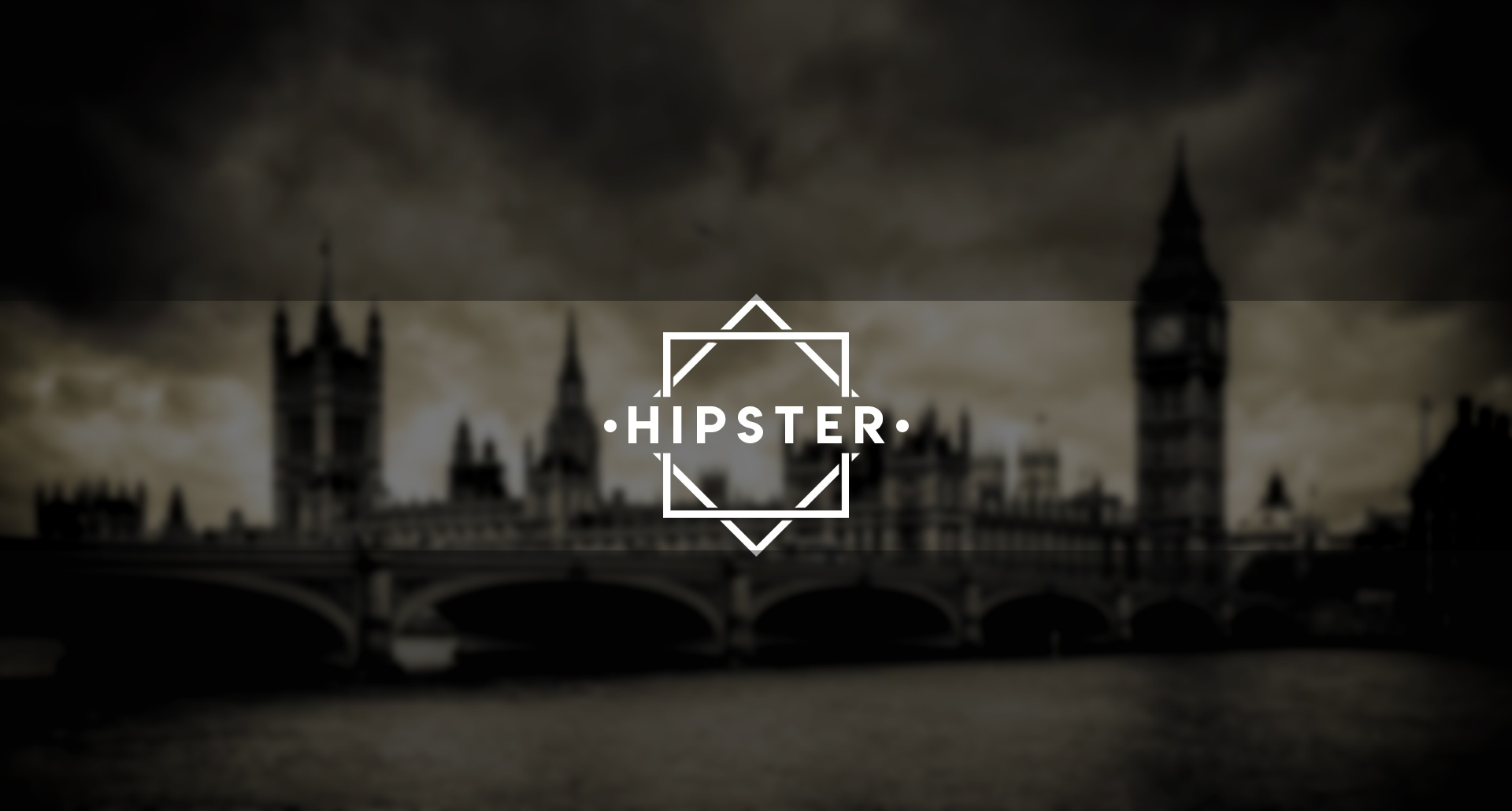 Hipster YouTube Banner Template