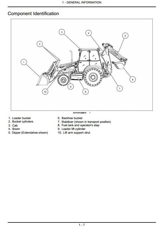Case Backhoe Loader  580N, 580SN, 580SN-WT, 590SN Operating and Maintenance Instructions