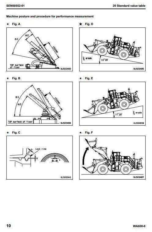 Komatsu Wheel Loader  WA600-6 Galeo sn: 60001 and up Workshop Service Manual