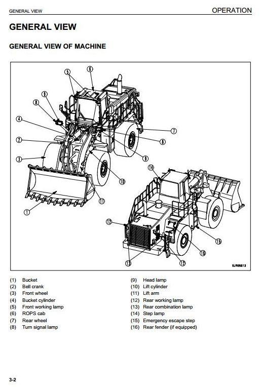 Komatsu Wheel Loader WA600-6 Galeo sn: 60001 and up Operating and Maintenance Instructions