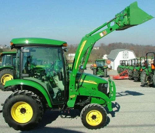 John Deere 3320, 3520, 3720 Series Compact Utility Tractors with Cab Technical Manual (TM2365)