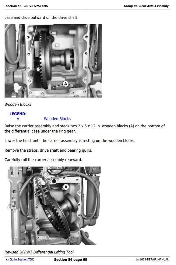 John Deere 8100T, 8200T, 8300T, 8400T, 8110T, 8210T, 8310T, 8410T Tractors Repair Manual (tm1621)