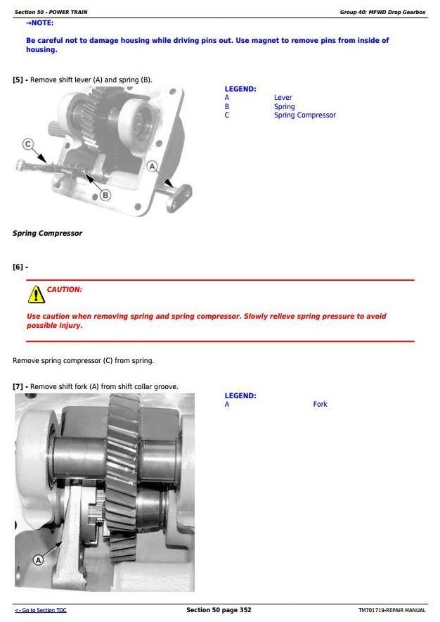 John Deere JD954,JD1104, JD1204,JD1354, 6095B, 6110B, 6135B, 6140B Tractors Repair Manual (TM701719)