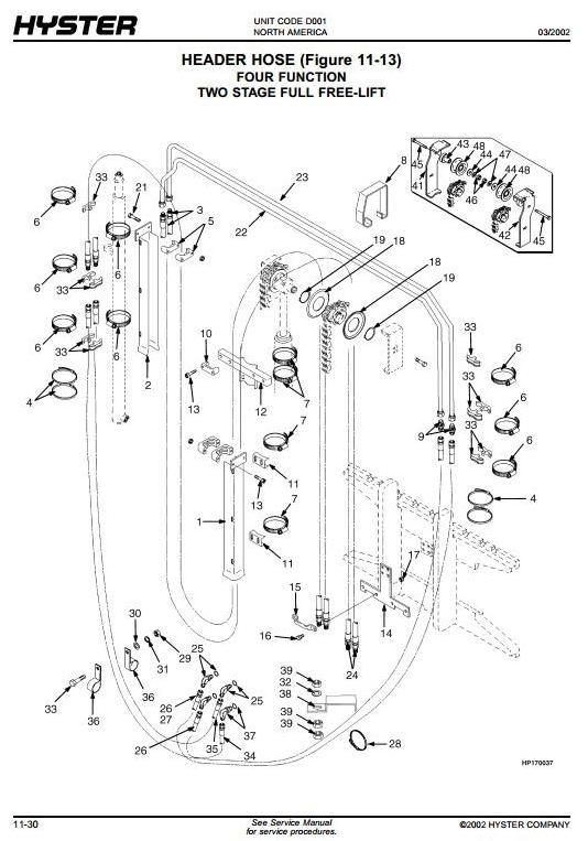 Hyster Forklift D001: H1.50XM (H30XM), H1.75XM (H35XM), H2.00XMS (H40XMS), H25XM Spare Parts List