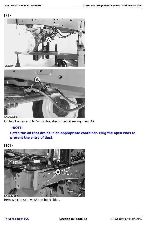 John Deere 7425, 7525, 6140J, 6155J & 6155JH Tractors Service Repair Manual (TM605819)