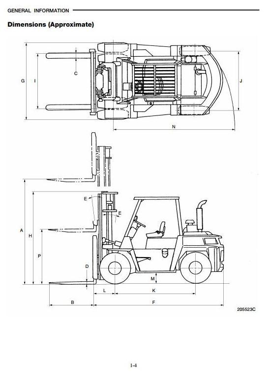 Caterpillar V330b Forklift Operator manual