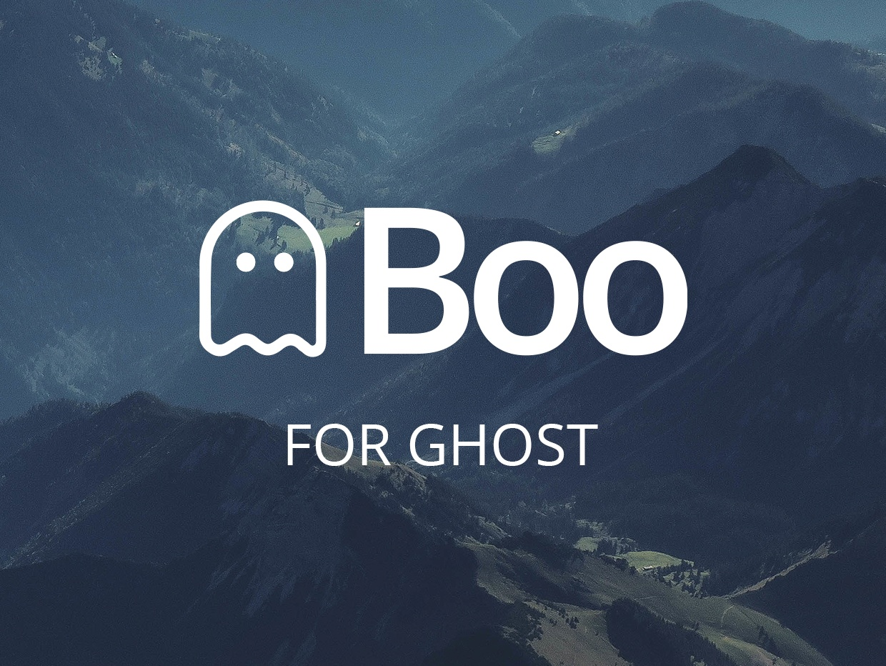 Boo - A Theme for Ghost