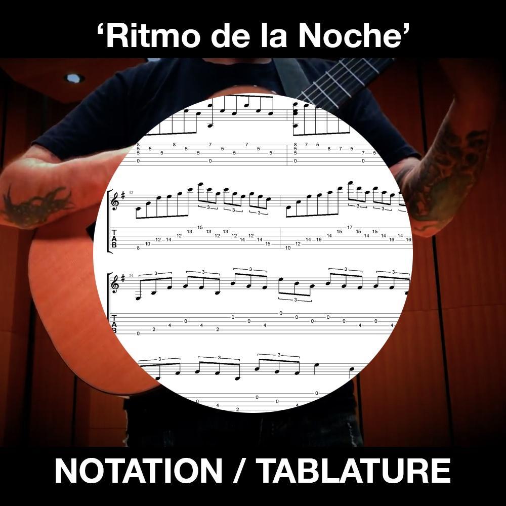 Ritmo de la Noche (Gipsy Kings) Solo Guitar - Ben Woods - Tabs/Notation