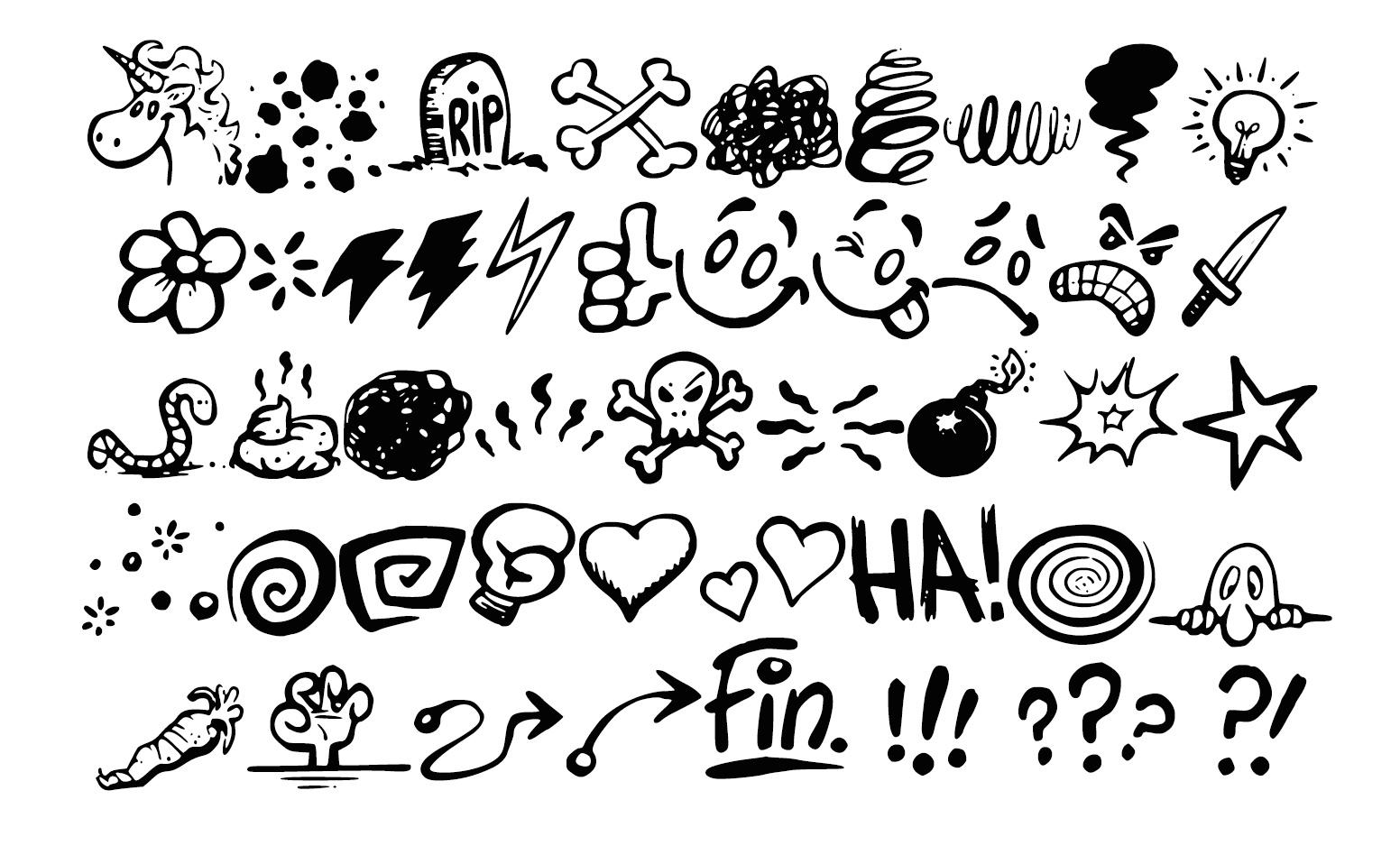 Georg's COMIC FONTS: 11 Handwritten Lettering Font Bun - Georg's