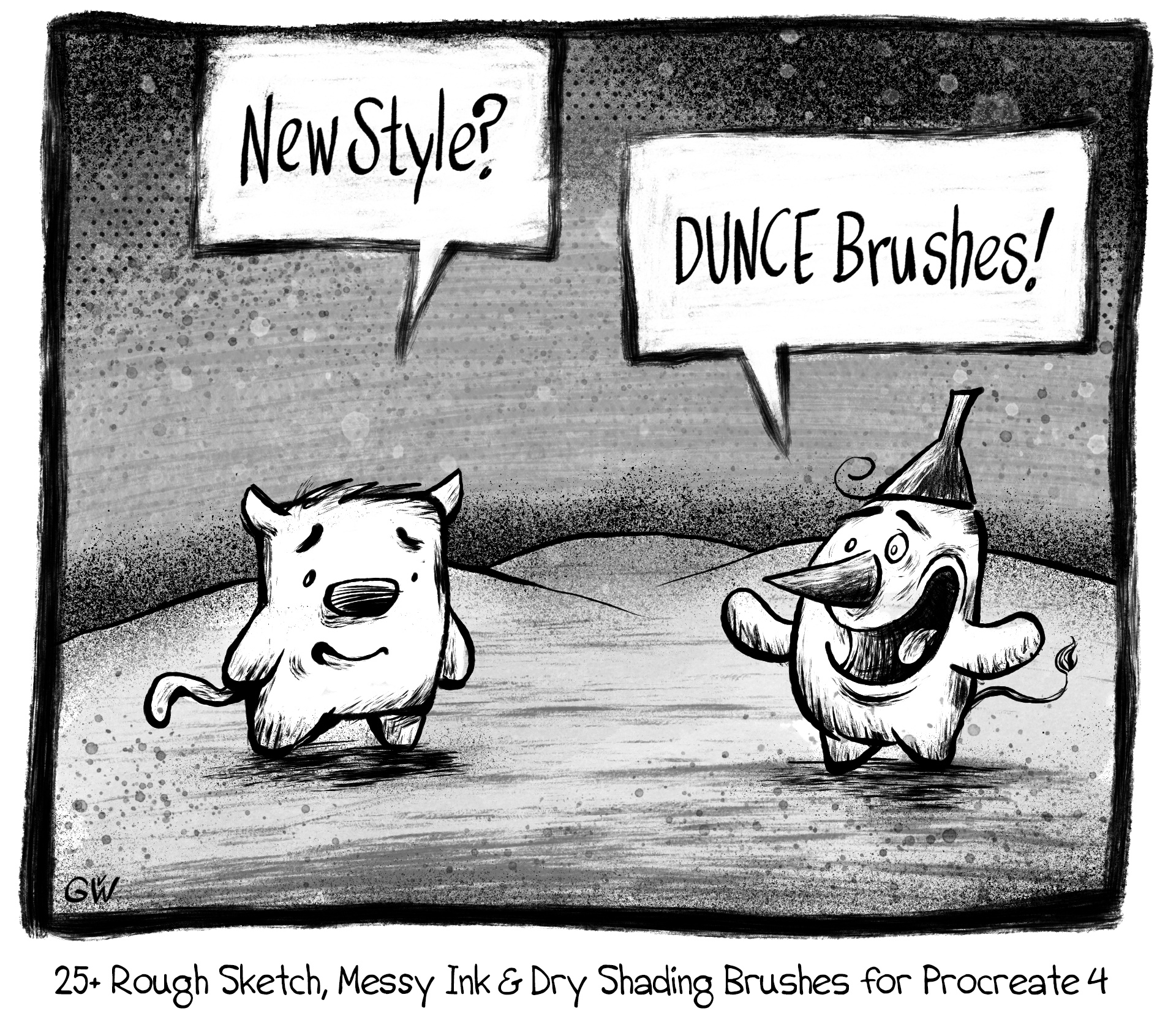 JensK's DUNCE Brushes: 25+ Rough Sketch, Messy Ink & D - Georg's