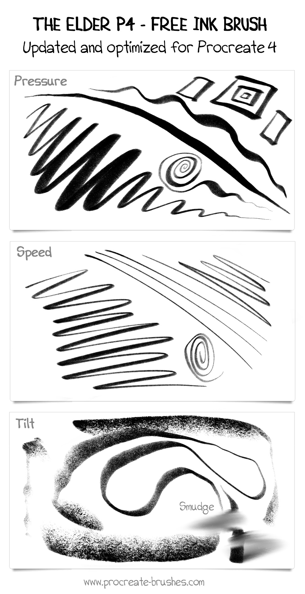 FREE Comic Ink Brush Set for Procreate: 16+ Inking and