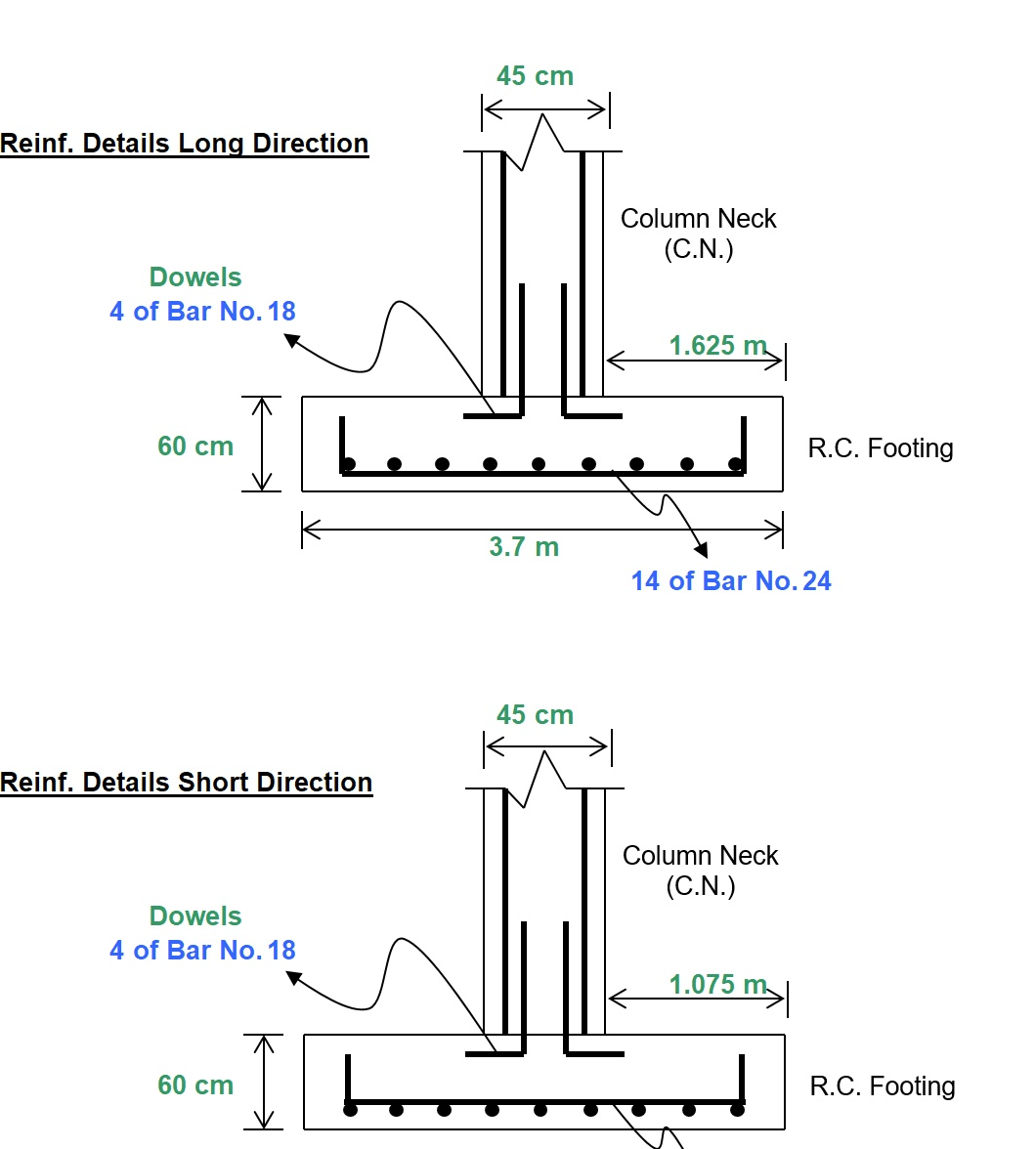 Single Isolated Rectangular Footing