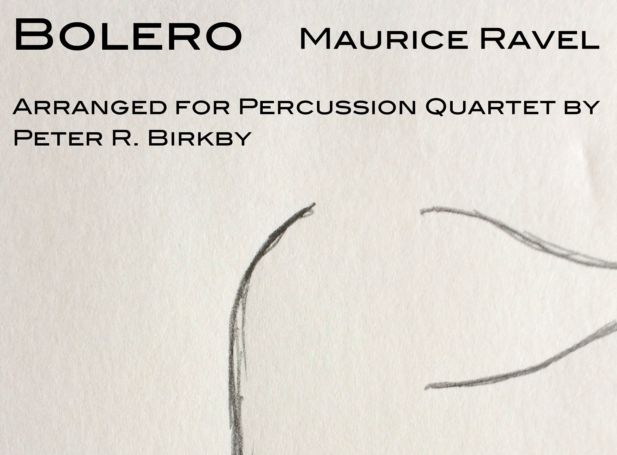 bolero for percussion quartet