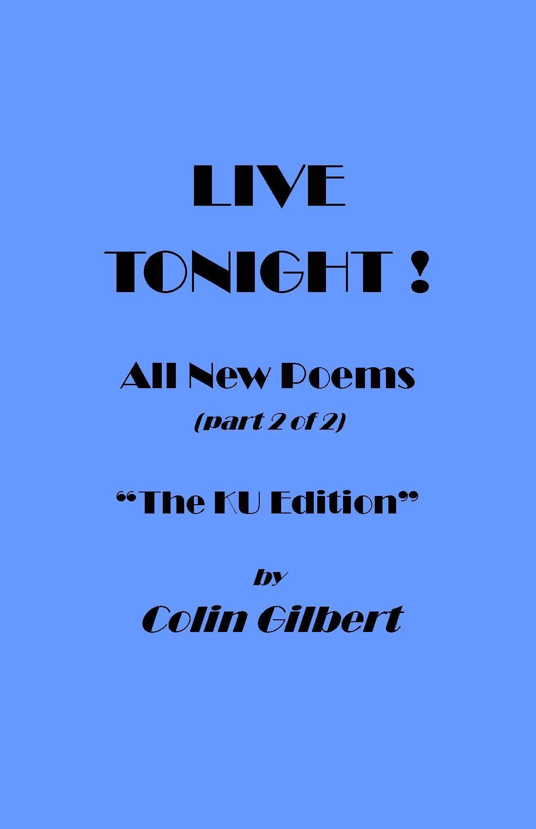 LIVE TONIGHT - The Haiku Edition
