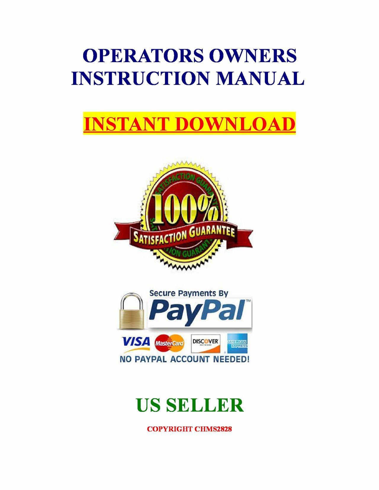 Kubota Tractor B6200HST B7200HST Operators Instruction Owners Manual Guide