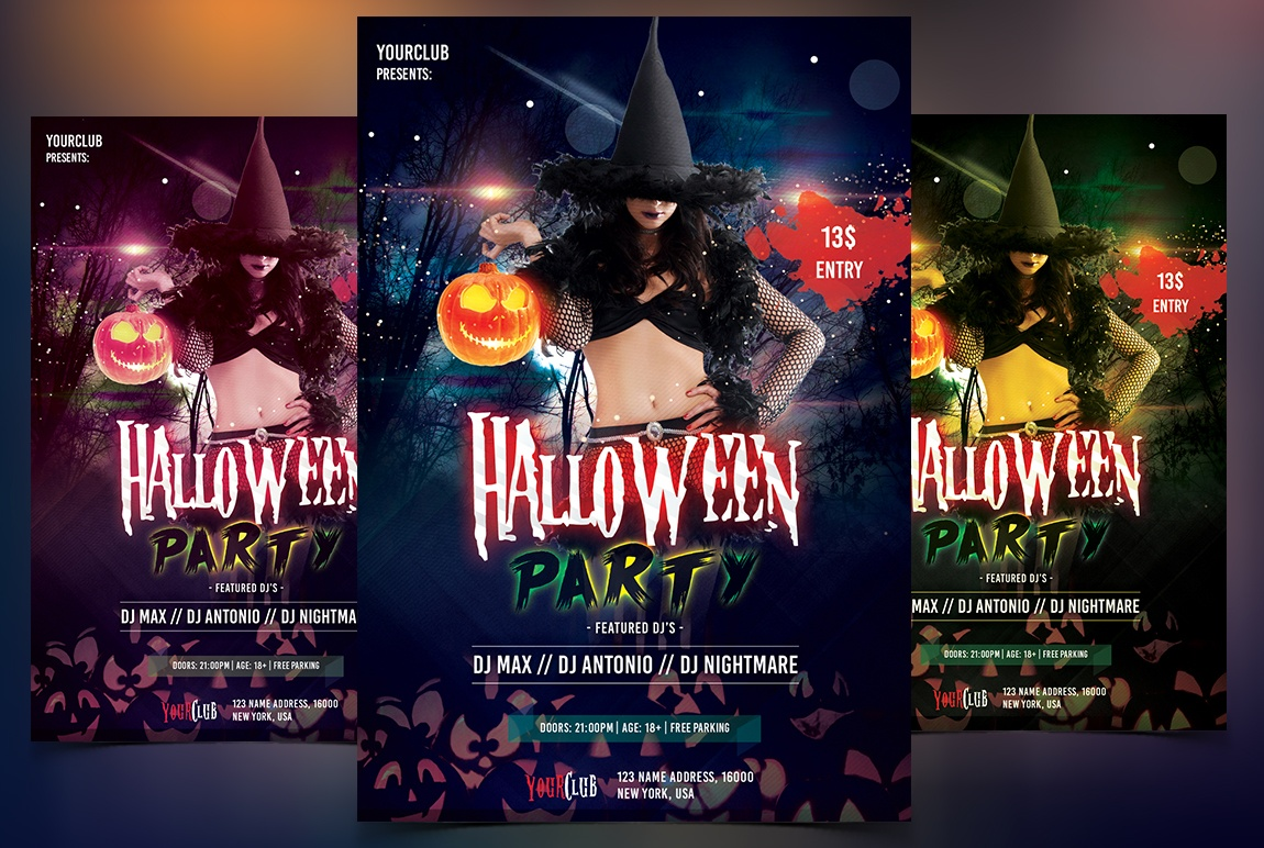Halloween Party - PSD Flyer