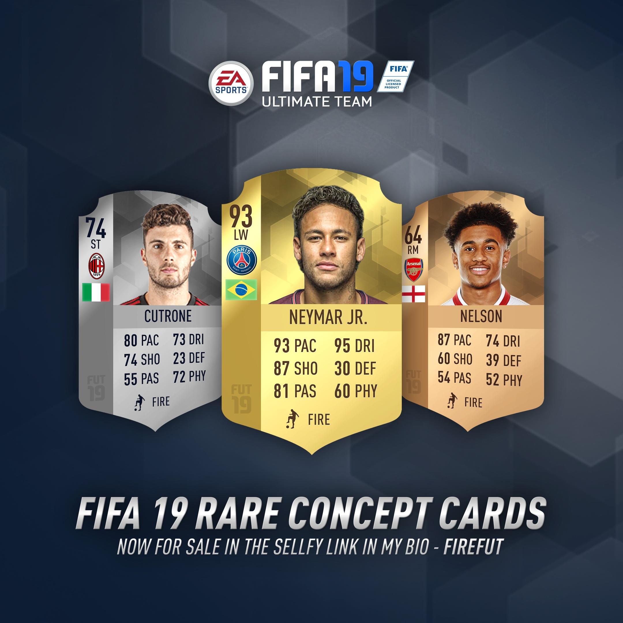 FIFA 19 Rare Concept Card Designs