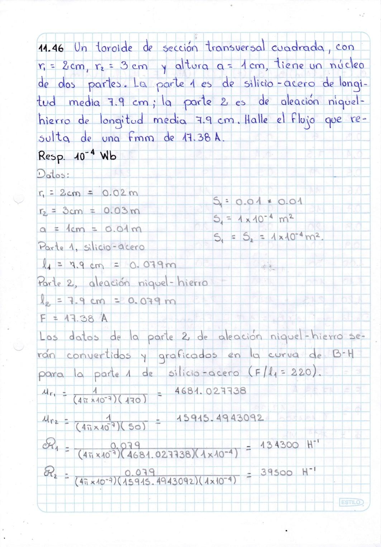 Capítulo 11 - Inductancia y circuitos magnéticos