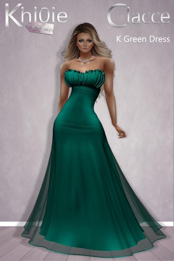 ~FREEBIE~  K Green Dress