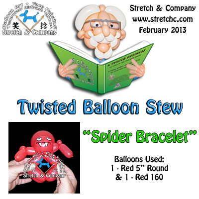 Spider Bracelet - Twisted Balloon Stew