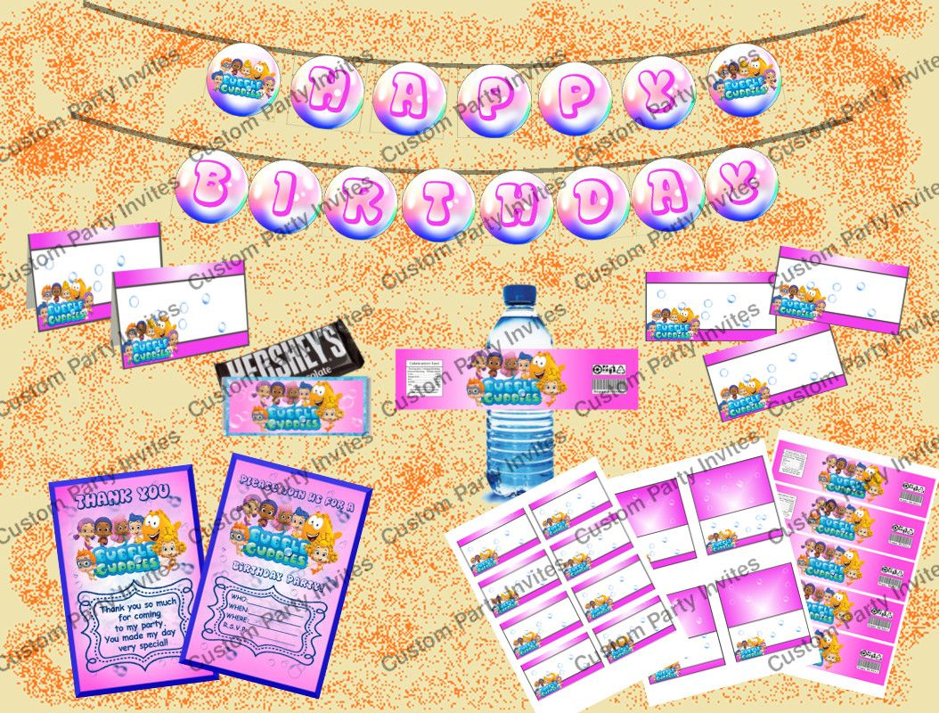 Bubble Guppies Party Package Pink