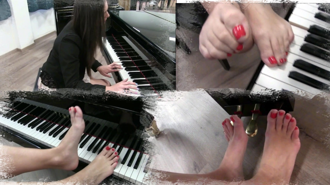 169 : Miss Iris learns how to play piano - Sonata 3 barefoot