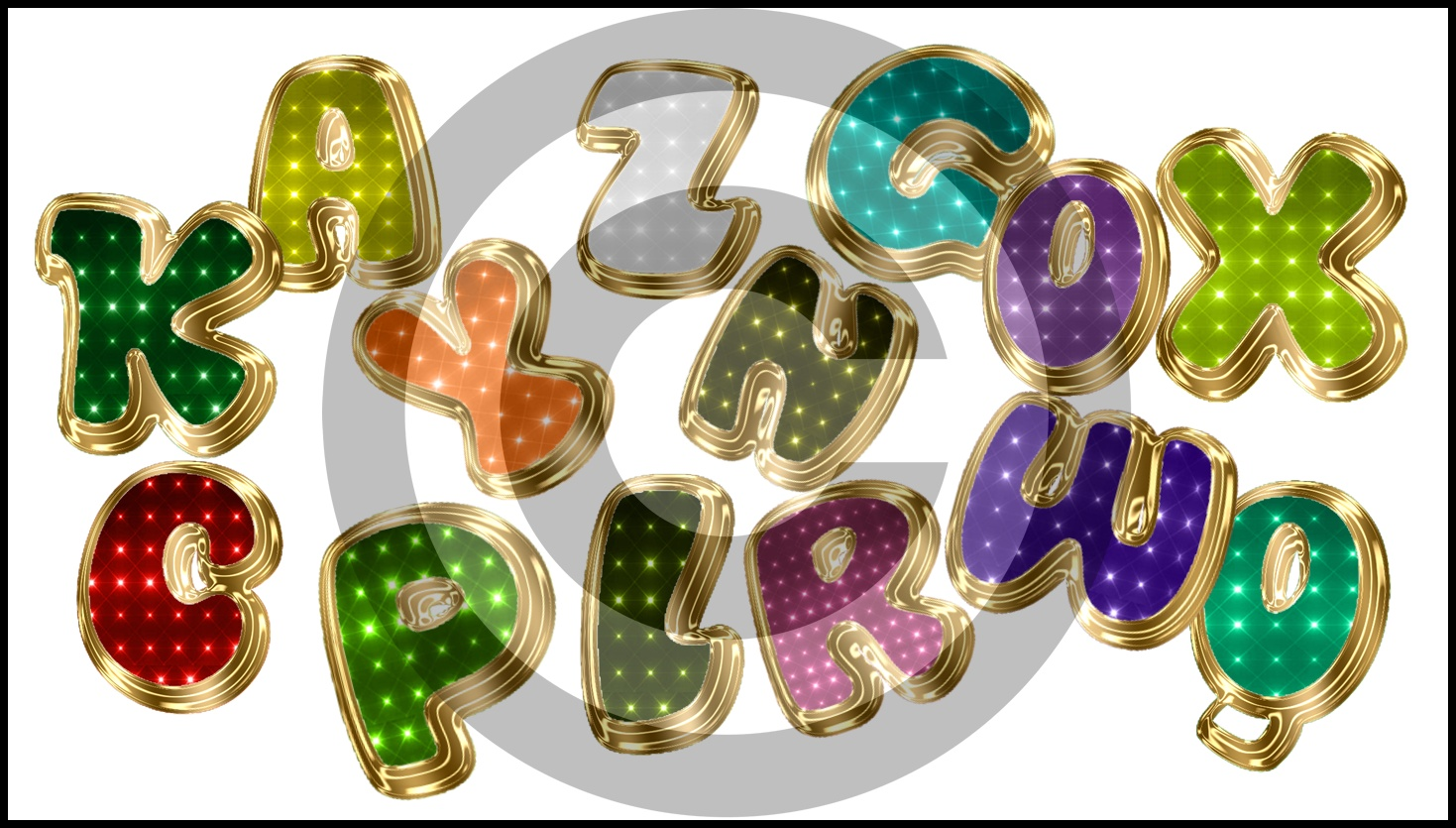 Png-Sparkles Letters  by caryr