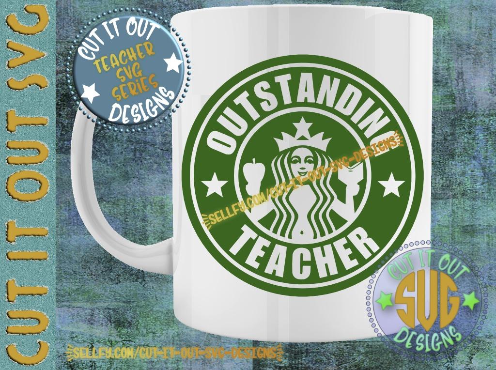 Outstanding Teacher Starbucks Logo Design 4
