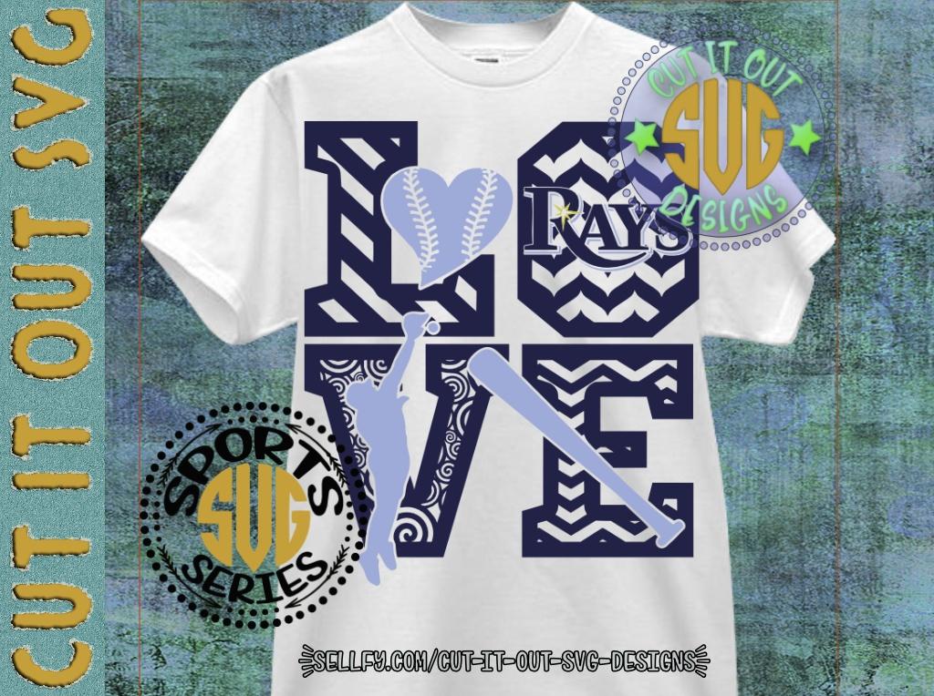 LOVE BASEBALL - Tampa Bay Rays SVG Cutting File