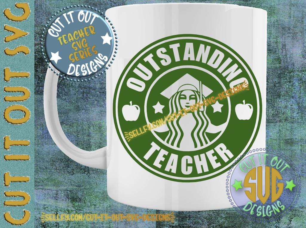 Outstanding Teacher Starbucks Logo Design 1