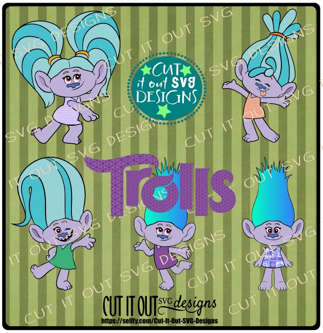 SVG Trolls Movie Charcters Poppy - SVG Cutting File perfect for vinyl, scrapbooking, T-shirts