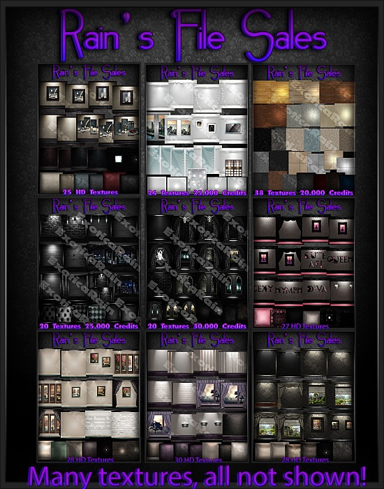 26 Past Texture Packs, Last Call Limited - IMVU