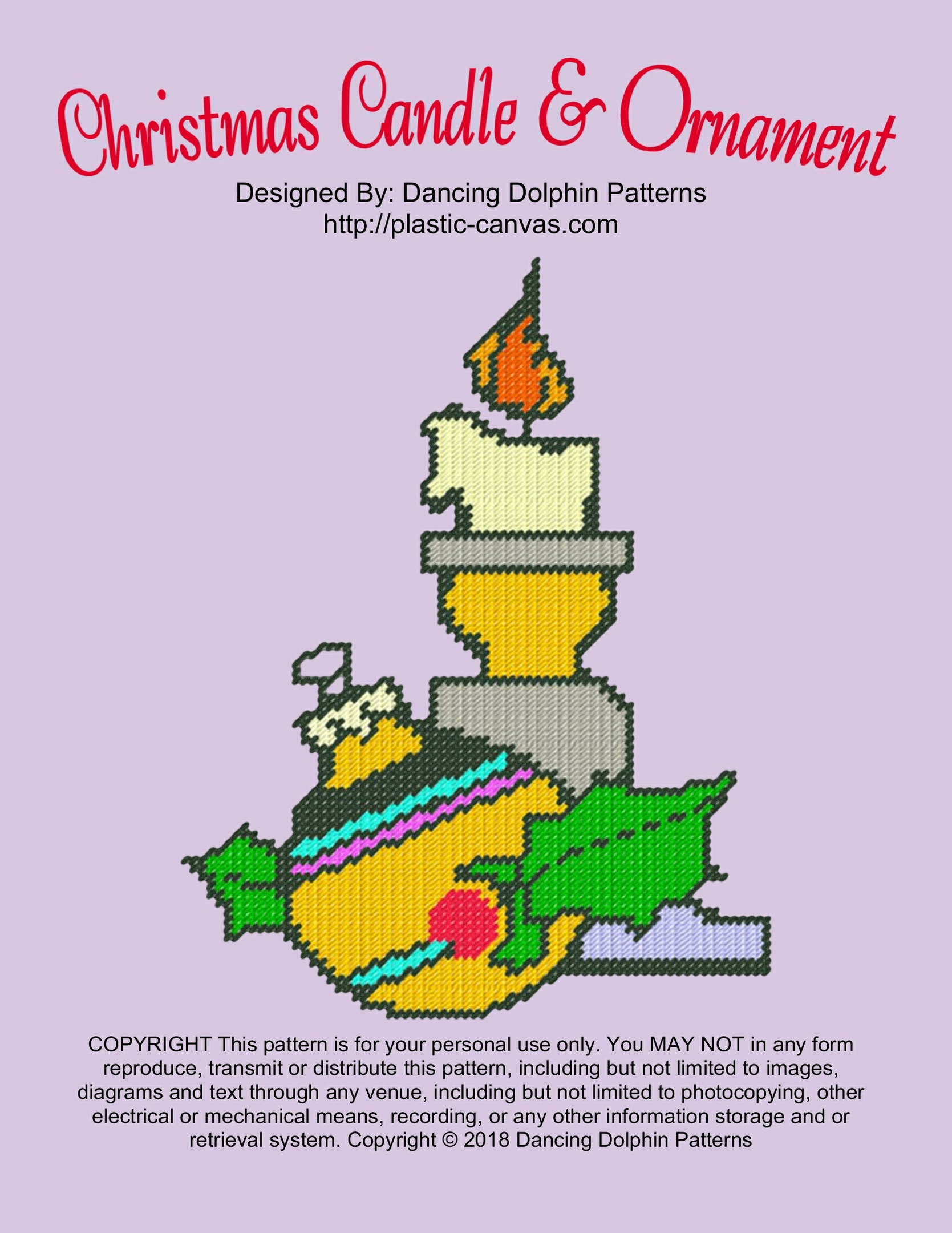 605 - Christmas Candle & Ornament